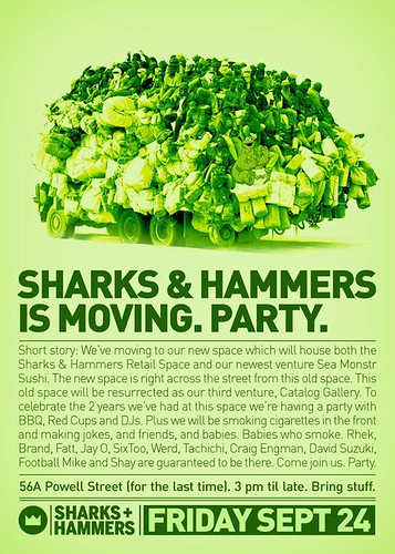 sharks and hammers moving party!