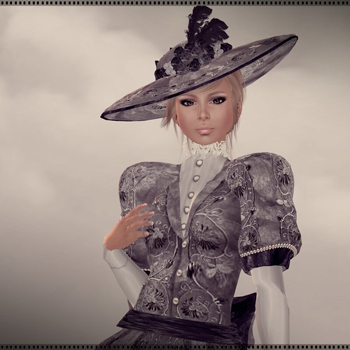 Hatpins - Lady Kate Hat and Dress - Charcoal - HDH