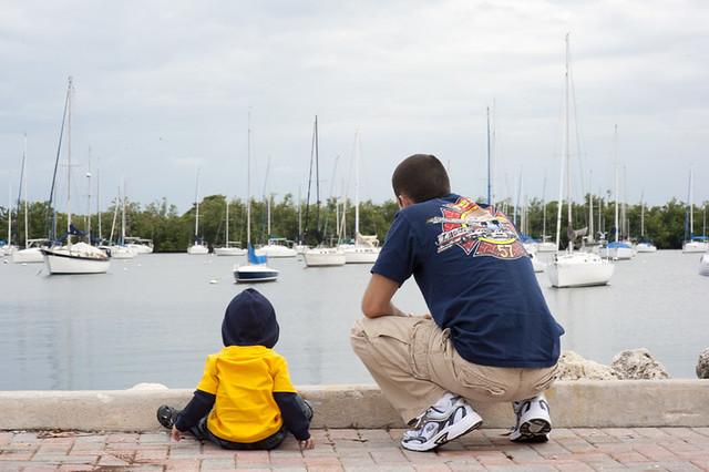 watching boats