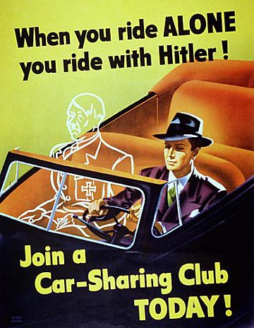 WW2 Poster When You Ride Alone You Ride With Hitler