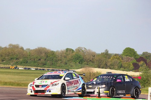 Matt Simpson and Chris Smiley at the Thruxton BTCC round, May 2017
