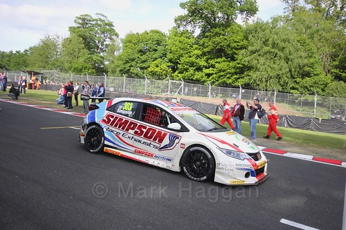 Matt Simpson on the BTCC grid at Oulton Park, May 2017