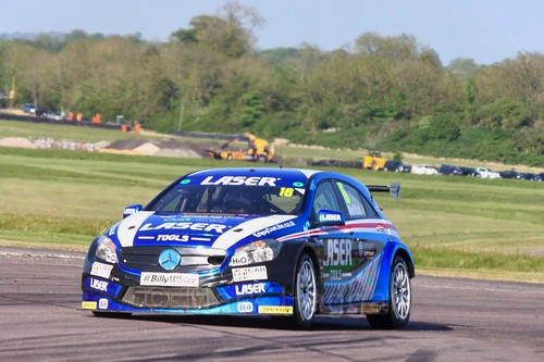 Aiden Moffat at the Thruxton BTCC weekend, May 2017