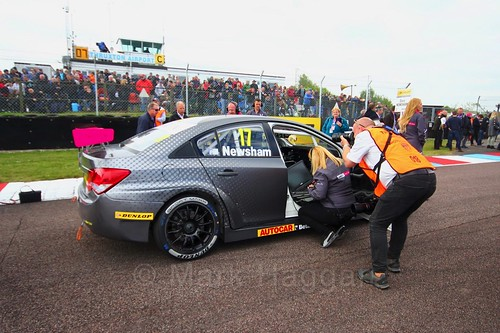 Dave Newsham on the grid at the Thruxton BTCC weekend, May 2017