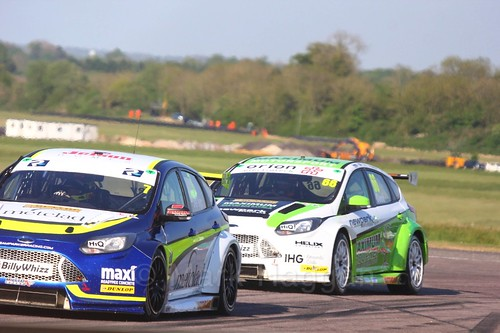 Stephen Jelley and Josh Cook at the Thruxton BTCC weekend, May 2017