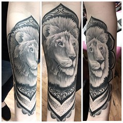 Thank you @ahoy.its.sarah for coming in to let me get a healed picture! #lion #liontattoo #bng #bngtattoos #mandalatattoo #mandala #girlswithtattoos #inked #inkaddict #inkedgirls #healedtattoo #forearmtattoo #tattoo #chico #chicoca #california #eyeofjade