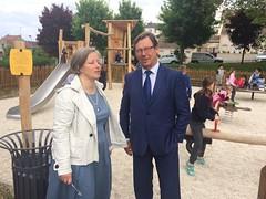 Inauguration d'un petit square à Ecquevilly