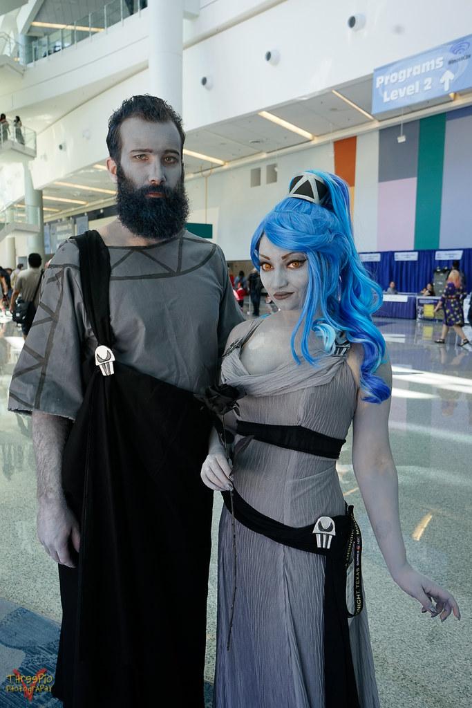 Hades & Dark Megara Disney villain costumes, Disney