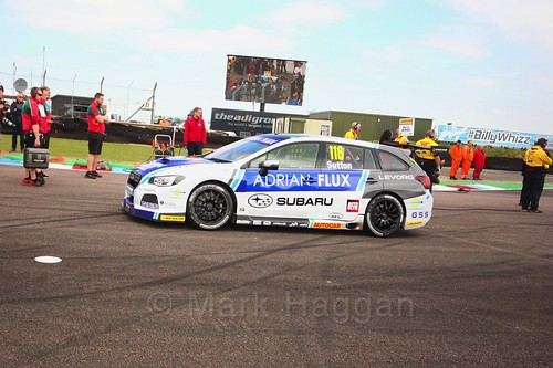 Ashley Sutton on the grid at the Thruxton BTCC weekend, May 2017