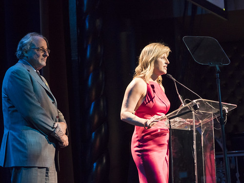Honorees Monica Winsor and Josh Mailman speak at WITNESS' 25th Anniversary Benefit