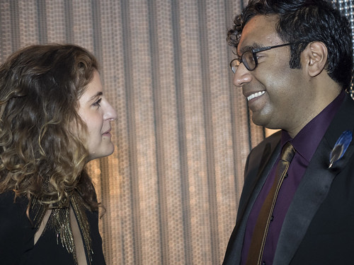 Francesca Mirabella and Hari Kondabolu at WITNESS' 25th Anniversary Celebration