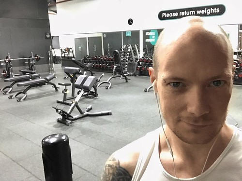 Today is all about...having the gym to myself