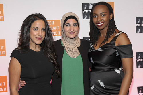 Raja Althaibani, Linda Sarsour and Opal Tometi