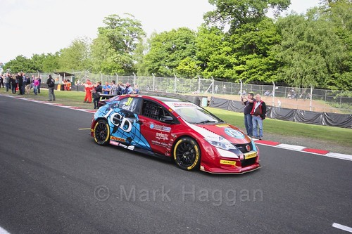 Jack Goff on the BTCC grid at Oulton Park, May 2017