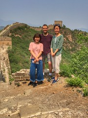 Xiaoen, Ying Tan, and I on the Great Wall at Jinshanling