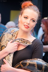 Girl with a snake 01
