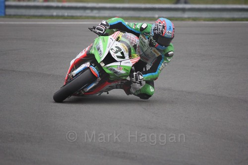 Ondřej Ježek in World Superbikes at Donington Park, May 2017