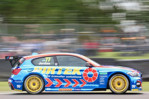 Andrew Jordan on the BTCC grid at Oulton Park, May 2017
