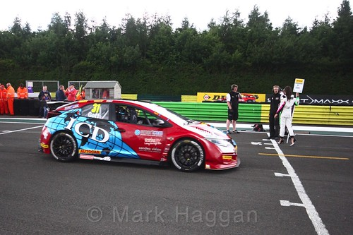 Jack Goff on the BTCC grid at Croft, June 2017
