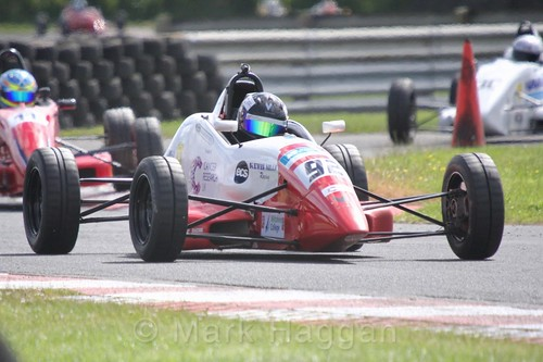 Michael Eastwell in the Formula Ford FF1600 championship at Kirkistown, June 2017