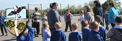 Mrs Elmes on the playground