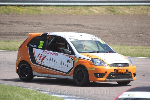 Lewis Kent in the Fiesta championship Class C at Rockingham, June 2017