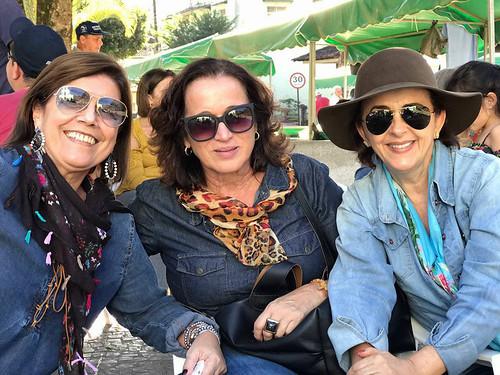 Sandra Brandão, June Santos e  Cassinha Carvalho