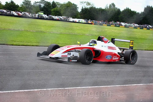 Hampus Ericsson in British F4 during the BTCC weekend at Croft, June 2017