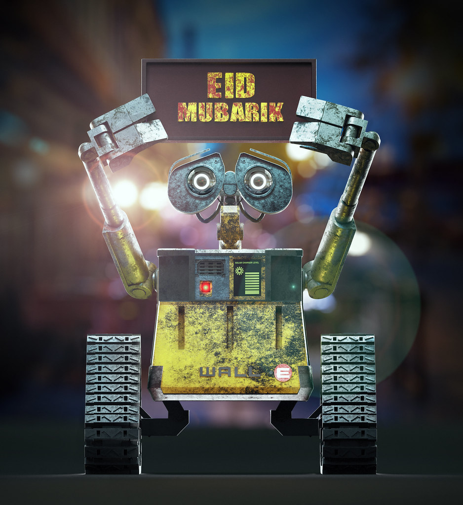 The World s Best Photos of walle and wallpaper   Flickr Hive Mind WALL E wishing everyone Eid Mubarik  SohailOriginal  Tags  3d 3ds 3dmax  vray photography