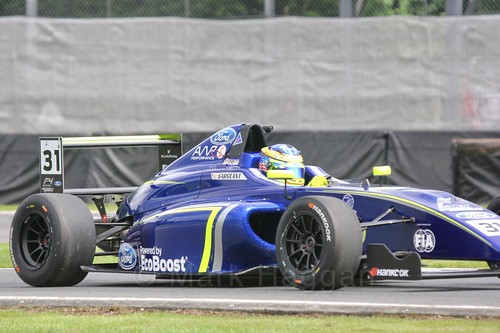 Logan Sargeant in British Formula Four at Oulton Park, May 2017