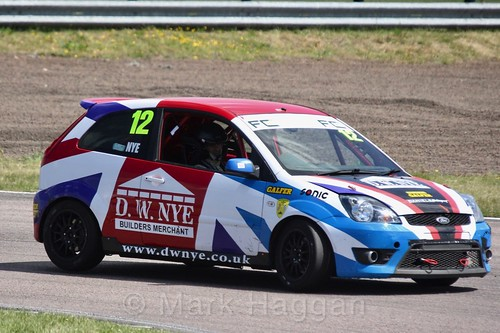 David Nye in the Fiesta championship Class C at Rockingham, June 2017