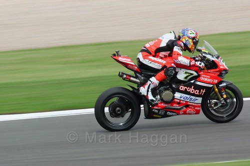 Chaz Davies in World Superbikes at Donington Park, May 2017