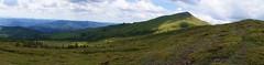 Panorama varfului Penteleu de pe culmea Viforata