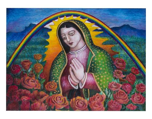 Autor: ANGEL LUIS RODRIGUEZ, La Madre de México  60x80 cm