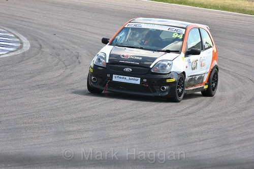 Josh Steed in the Fiesta Junior championship at Rockingham, June 2017