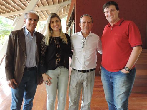 Bené Rocha, Camila e o vice-presidente da Acicel, Ismá Canedo, André Barros