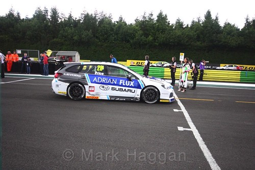 Josh Price on the BTCC grid at Croft, June 2017