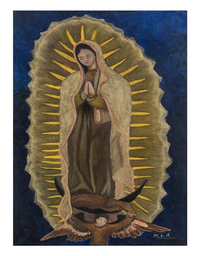 Autor: MIRIAM LUNA ARIZMENDI, Virgen de Guadalupe  80x50 cm