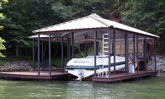 Single Slip, Hip Roof Docks