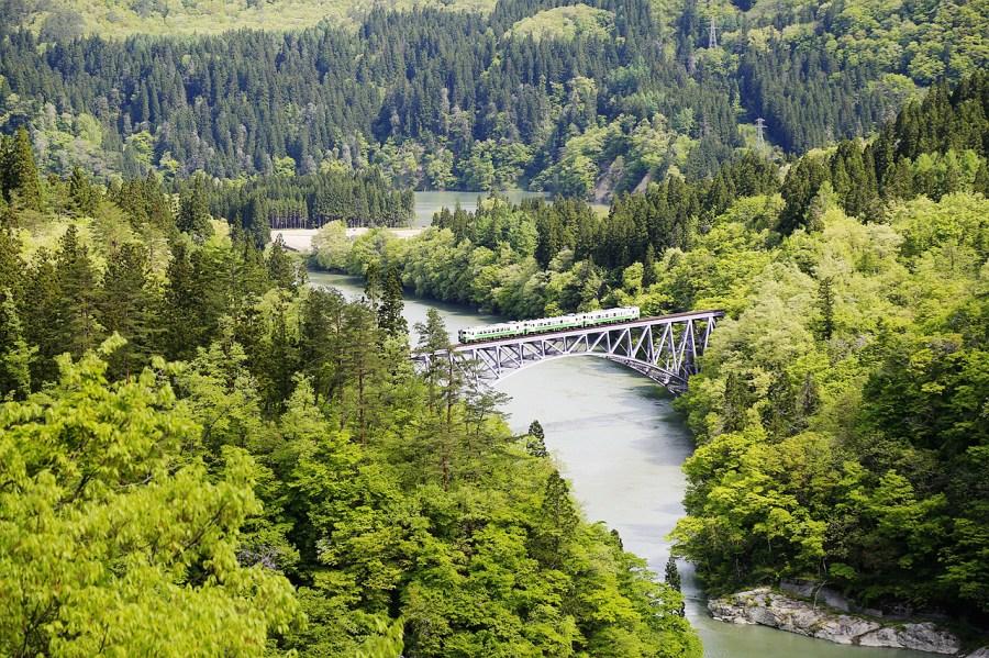 [福島.景點]只見線第一鐵橋交通資訊~尾瀬街道みしま宿.日本鐵道迷朝聖之處 @VIVIYU小世界