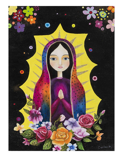Autor: CARLOS MAURICIO JUAREZ COVARRUBIAS, La Virgen  70x50 cm