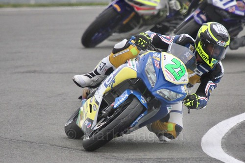 Manuel Bastianelli in World Supersport 300 at Donington Park, May 2017