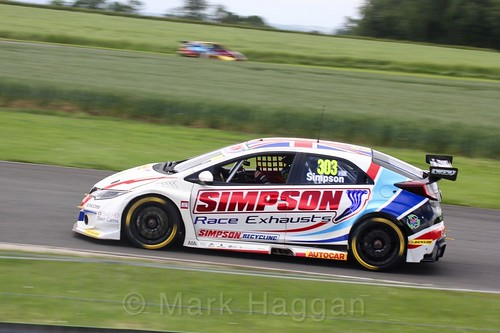 Matt Simpson in action during the BTCC weekend at Croft, June 2017