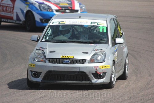 Lee Dendy-Sadler in the Fiesta championship Class C at Rockingham, June 2017
