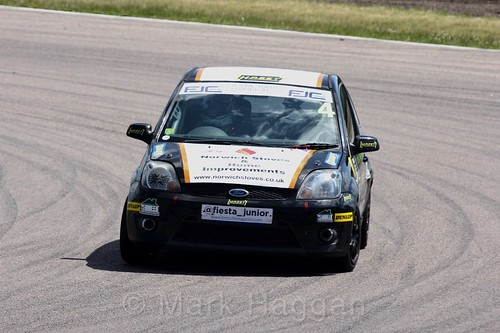 James Hillery in the Fiesta Junior championship at Rockingham, June 2017