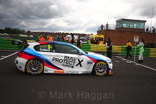 Rob Collard on the BTCC grid at Croft, June 2017