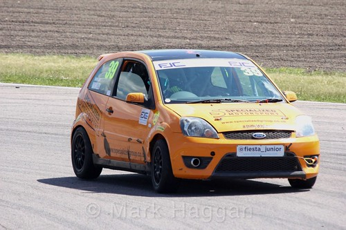 Jamie-Lea Hawley in the Fiesta Junior championship at Rockingham, June 2017