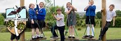 Pupils enjoying the adventure playground
