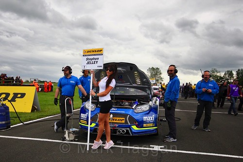 Stephen Jelley on the BTCC grid at Croft, June 2017