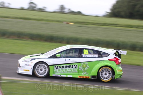 Dennis Strandberg in BTCC action at Croft, June 2017